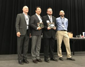 """Tim Kent received his AEESP Master's Thesis Award on the topic of """"Mechanical Understanding of the NOB suppression by Free Ammonia Inhibition in Continuous Flow Bioreactors"""" in AEESP 2019 at Tempe, Arizona on May 16"""