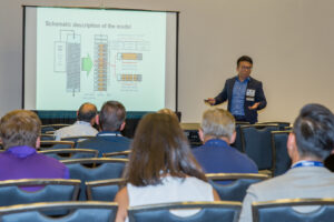Read more about the article Yewei's oral presentation about ozonation/biofiltration at 2018 WaterJam conference on September 11, 2018. Yewei was probably one of the few luckiest presenters of the conference because shortly after his presentation the conference was interrupted by a power failure and then evacuated for landing hurricane Florence.