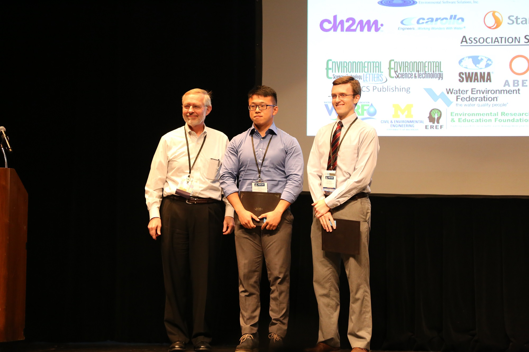 Read more about the article Yewei Sun received AEESP 2017 conference student travel award sponsored by Hydromantis on June 22, 2017