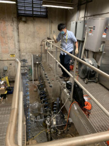 On Jul 23, 2020, phase III study of continuous flow aerobic granulation was initiated!