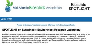 On Apr 14, 2020, our lab was spotlighted by the Mid-Atlantic Biosolids Association