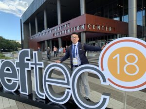 Read more about the article Yewei oral presented his research about the mathematical modeling of ozonation/biofiltration for potable water reuse at the 2018 Weftec conference in New Orleans, Louisiana, October 1-3