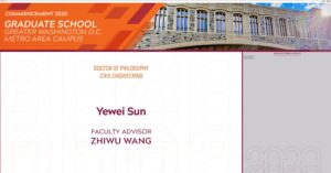 Virtual commencement for Drs. Sun and Zhang! Congratulation!